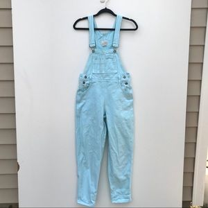 Vintage 80s Mint Blue Denim Overalls